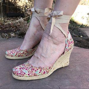Flower Wedge Espadrille Sandals by Bandolino